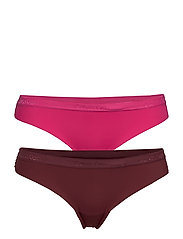 THONG 2PK - THRILL/DEEP MAROON