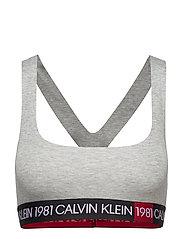 Calvin Klein UNLINED BRALETTE - GREY HEATHER