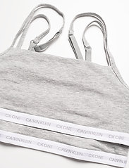 Calvin Klein - UNLINED BRALETTE 2PK - miękkie biustonosze - grey heather/grey heather - 1
