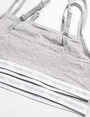 Calvin Klein - UNLINED BRALETTE 2PK - miękkie biustonosze - grey heather/grey heather - 2