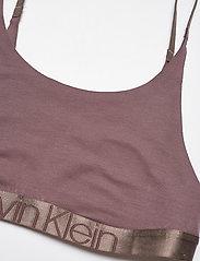 Calvin Klein - UNLINED BRALETTE - miękkie biustonosze - plum dust - 2