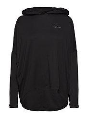 Calvin Klein L/S HOODIE - BLACK