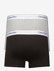 Calvin Klein - 2P TRUNK - boxershorts - heather grey/black - 1
