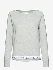 Calvin Klein - TOP SWEATSHIRT LONG SLEEVE - góry - grey heather - 0