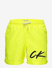 Calvin Klein - MEDIUM DRAWSTRING - zwembroeken - safety yellow - 0