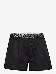 Calvin Klein - WOVEN PJ SET (SS+SHORT) - 2-delte sæt - bluepetal/w/pvhblack - 2