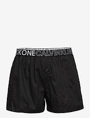 Calvin Klein - WOVEN PJ SET (SS+SHORT) - 2-delte sæt - pvhwhite/w/pvhblack - 2