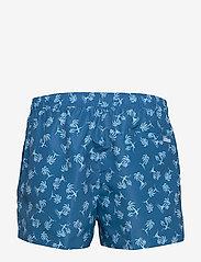 Calvin Klein - SHORT DRAWSTRING-PRINT - badehosen - palm tree repeat snorkel blue - 1