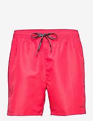 Calvin Klein - MEDIUM DRAWSTRING - shorts de bain - pink heart - 0