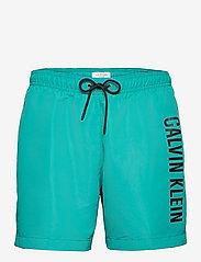 Calvin Klein - MEDIUM DRAWSTRING - shorts de bain - seans teal - 0