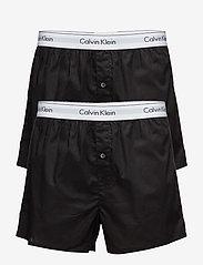 Calvin Klein - BOXER SLIM 2PK - boxershorts - black/black - 0