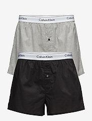 Calvin Klein - BOXER SLIM 2PK - boxershorts - black / grey heather - 0