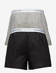 Calvin Klein - BOXER SLIM 2PK - boxershorts - black / grey heather - 1
