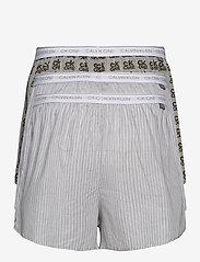 Calvin Klein - SLIM FIT BOXER 3PK - boxershorts - cozy stripe/ g heather/ ck one - 1