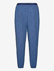 Calvin Klein - S/S JOGGER PJ SET - pyjamas - blue top/ numero uno stripe bo - 3