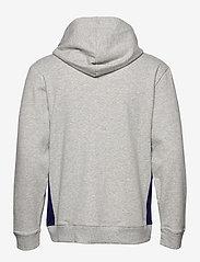 Calvin Klein - FULL ZIP HOODIE - basic sweatshirts - grey heather w/ horoscope piec - 1