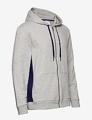 Calvin Klein - FULL ZIP HOODIE - basic sweatshirts - grey heather w/ horoscope piec - 2