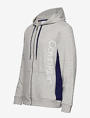 Calvin Klein - FULL ZIP HOODIE - basic sweatshirts - grey heather w/ horoscope piec - 3
