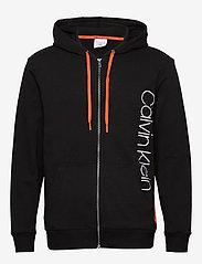 Calvin Klein - FULL ZIP HOODIE - basic sweatshirts - black w/ inferno piecing - 0