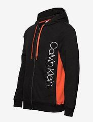 Calvin Klein - FULL ZIP HOODIE - basic sweatshirts - black w/ inferno piecing - 2