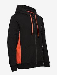 Calvin Klein - FULL ZIP HOODIE - basic sweatshirts - black w/ inferno piecing - 3