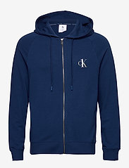 Calvin Klein - FULL ZIP HOODIE - basic sweatshirts - perth blue - 0