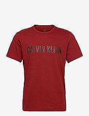 Calvin Klein - S/S CREW NECK - kortærmede t-shirts - mulberry wine - 0