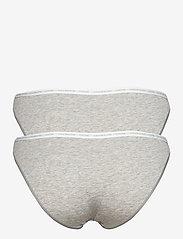 Calvin Klein - BIKINI 2PK - majtki - grey heather/grey heather - 2