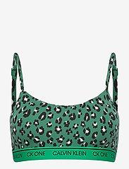Calvin Klein - UNLINED BRALETTE - miękkie biustonosze - stephen leopard_tourney - 0