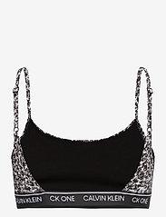 Calvin Klein - UNLINED BRALETTE - miękkie biustonosze - composition print_black - 1