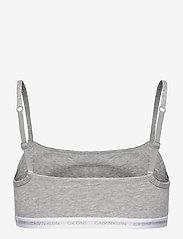 Calvin Klein - UNLINED BRALETTE 2PK - miękkie biustonosze - grey heather/grey heather - 3