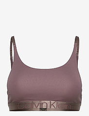 Calvin Klein - UNLINED BRALETTE - miękkie biustonosze - plum dust - 0