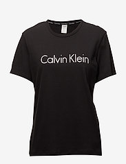 Calvin Klein - S/S CREW NECK - góry - black - 0