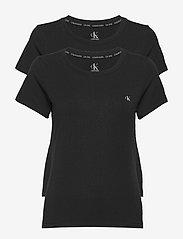 Calvin Klein - S/S CREW NECK 2PK - t-shirty - black - 0