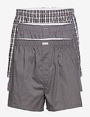 Calvin Klein - BOXER WVN 3PK - boxershorts - grey sky/glen plaid/matthew st - 0