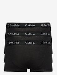Calvin Klein - LOW RISE TRUNK 3PK - boxerkalsonger - black w. black wb - 1