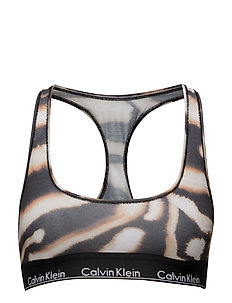 BRALETTE UNLINED - WATERCOLOR ANIMAL_BLEACH OUT