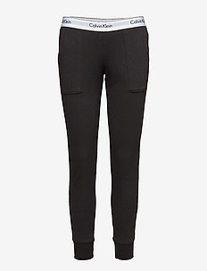 BOTTOM PANT JOGGER - nederdelar - black