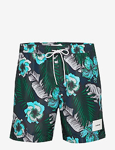 MEDIUM DRAWSTRING-PRINT - shorts de bain - tropical print blue