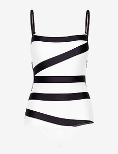 BANDEAU ONE PIECE - KLEIN ABSTRACT WHITE