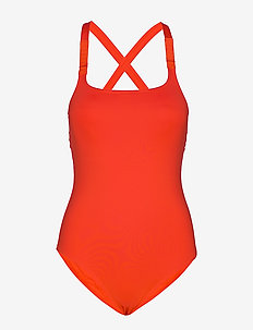 CROSS BACK ONE PIECE - FIERY RED