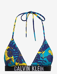 TRIANGLE-RP-PRINT - góry strojów kąpielowych - tropical print blue