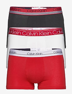 TRUNK 3PK - boxers - white/ black/ red alert