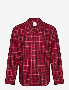 L/S BUTTON DOWN - pyjamas - gannett plaid_sweet berry