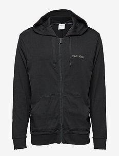 FULL ZIP SWEATSHIRT - hoodies - black