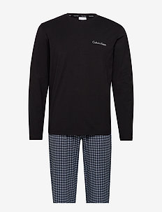 L/S PANT SET - BLACK TOP /MILFORD PLAID PANT