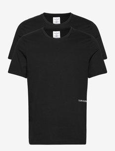 S/S CREW NECK 2PK (UNISEX) - basic t-shirts - black