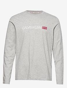 L/S CREW NECK - GREY HEATHER