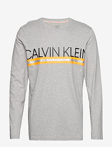 L/S CREW NECK - GREY HEATHER