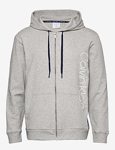 FULL ZIP HOODIE - basic sweatshirts - grey heather w/ horoscope piec